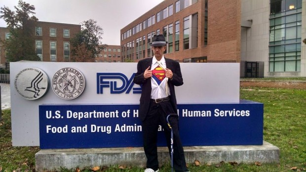 Michael Kaferly in front of the FDA